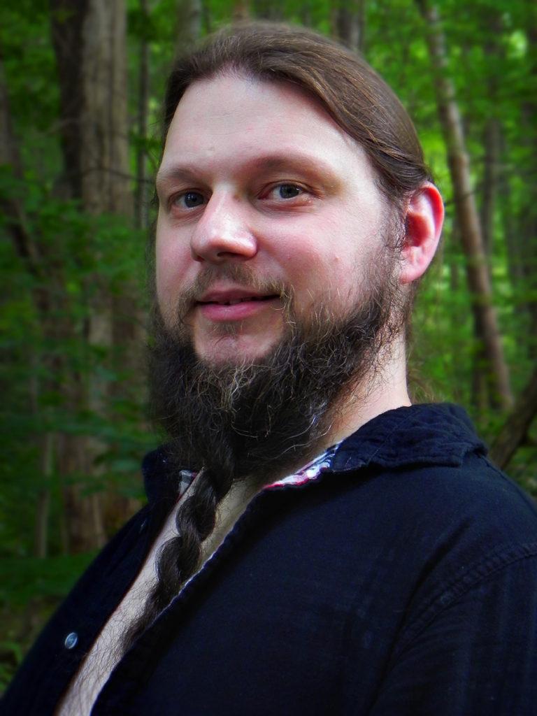 Potrait of B.J. Halsall bearded man